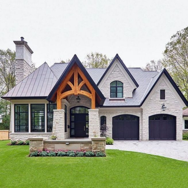 46 chic exterior design ideas for your home to try this on beautiful modern farmhouse trending exterior design ideas id=27328