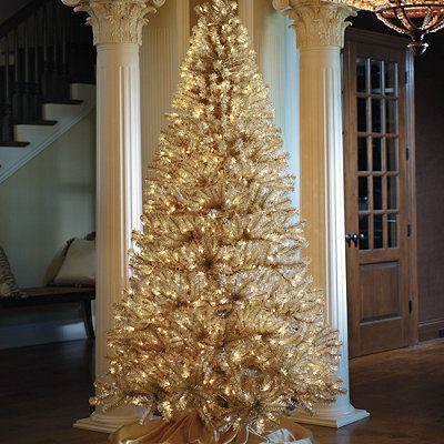 champagne gold artificial christmas tree frontgate holidaydecor