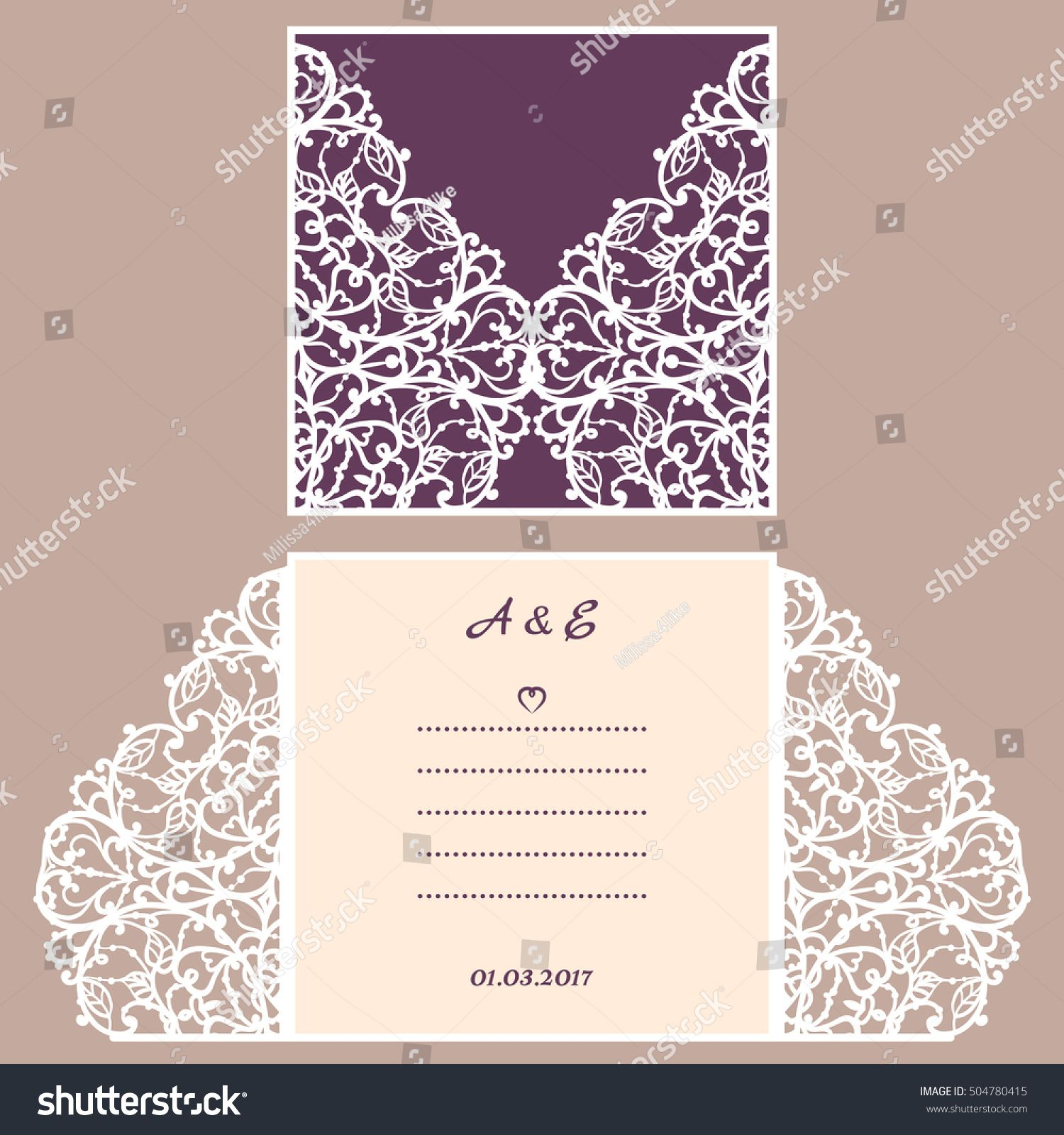 Wedding invitation or greeting card with abstract ornament vector wedding invitation or greeting card with abstract ornament vector envelope template for laser cutting stopboris Image collections