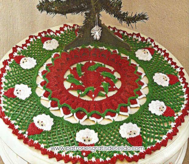 Cómo tejer tapete navideño a crochet | Navidad | Pinterest | Cómo ...