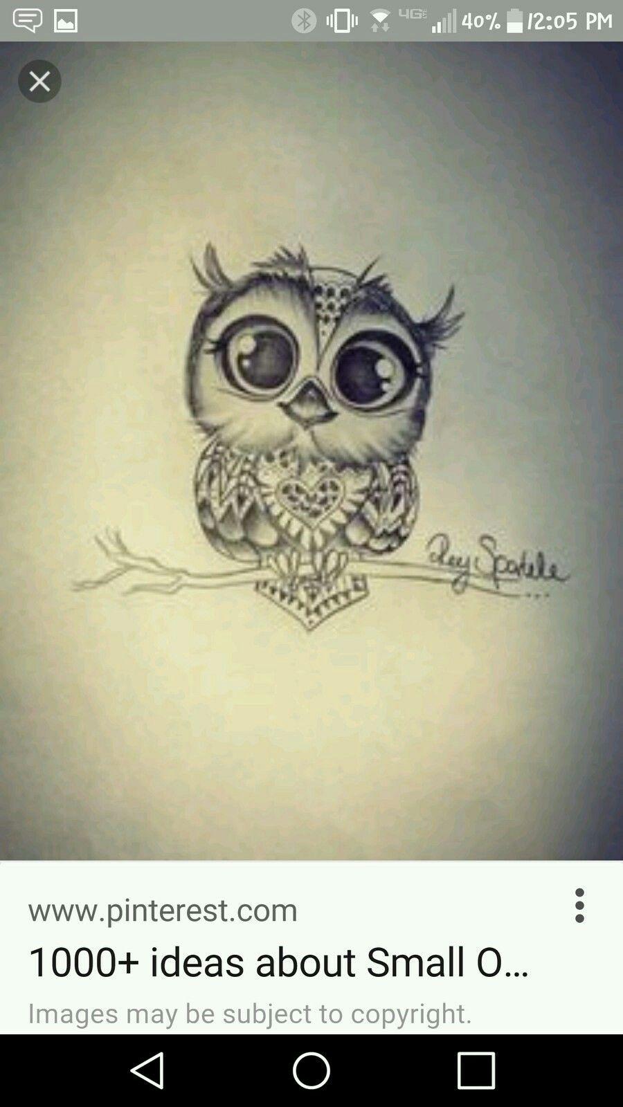 Cute baby owl  Baby owl tattoos  Tattoos Tattoo designs