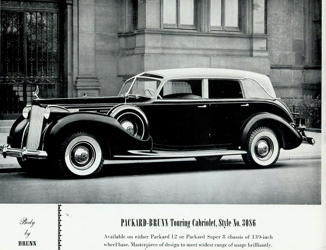 1938 Packard-Brunn Touring Cabriolet (With images) | Packard cars ...