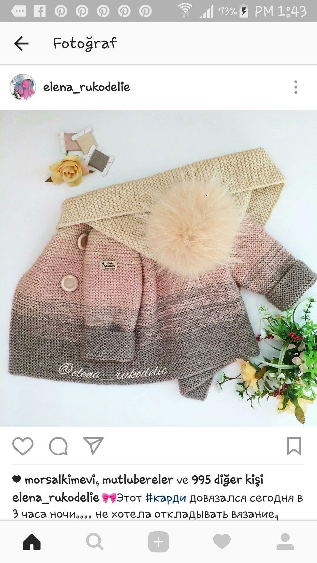 Pin von Hargita Laszlo auf kabát   Pinterest   Baby stricken ...