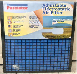 Electrostatic air filter image by on