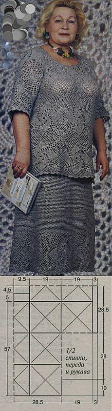 вязание для полных Crochet вязание вязать юбка связаные