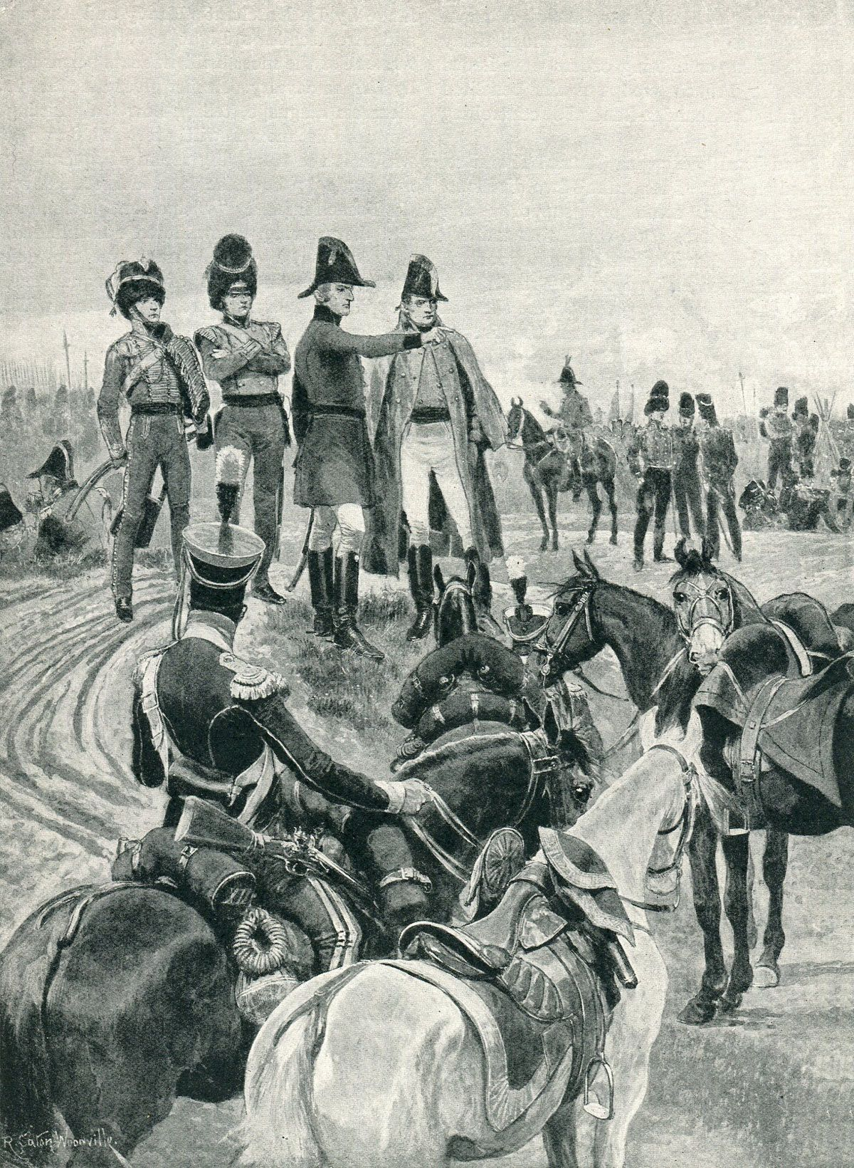 the Battle of Salamanca on 22nd July 1812 during the Peninsular War:  picture by Richard Caton Woodville