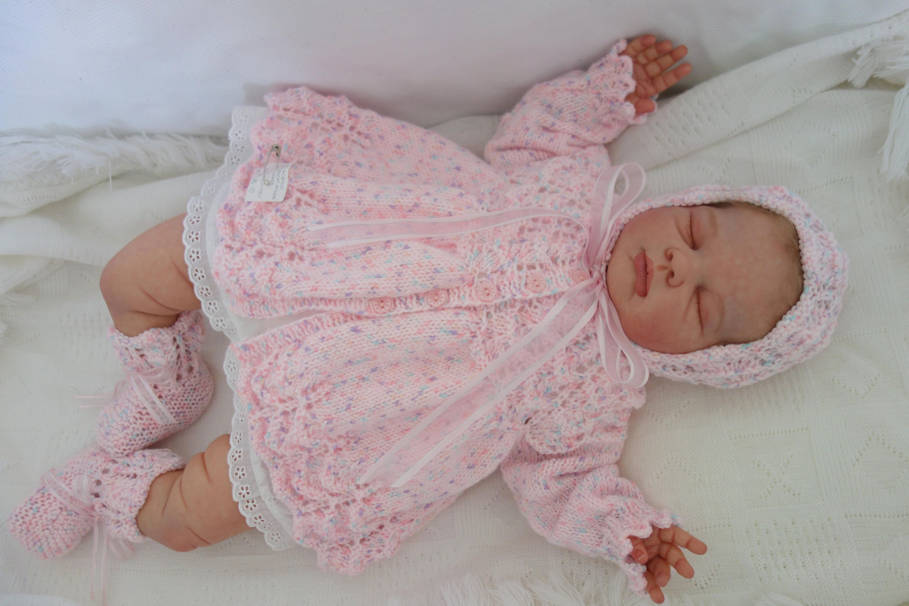 fee0863ee88d A stunning baby s hand knitted matinee coat
