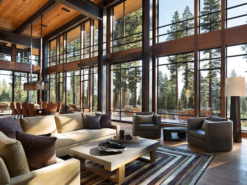 Fabulous Mountain Modern Retreat In The High Sierras Mountain Home Interiors Mountain Modern Home Modern Mountain Home