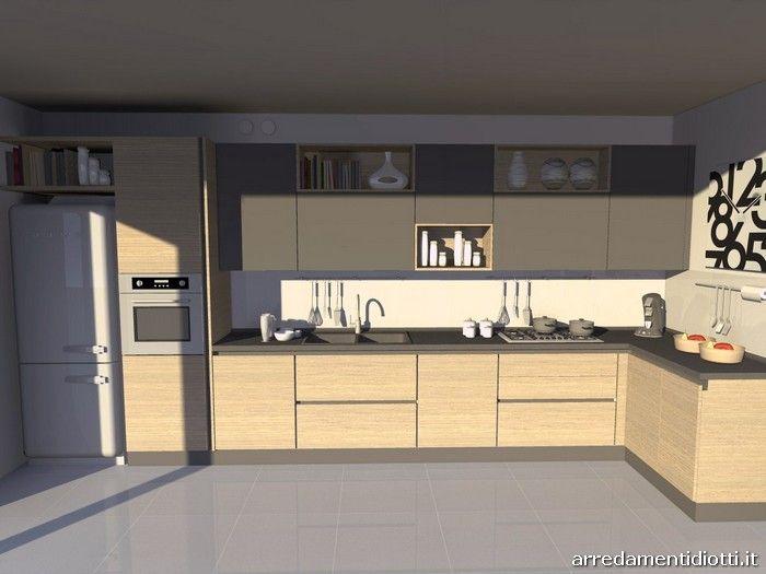 Cucina Sfera in rovere naturale - DIOTTI A&F Arredamenti | Cucina ...