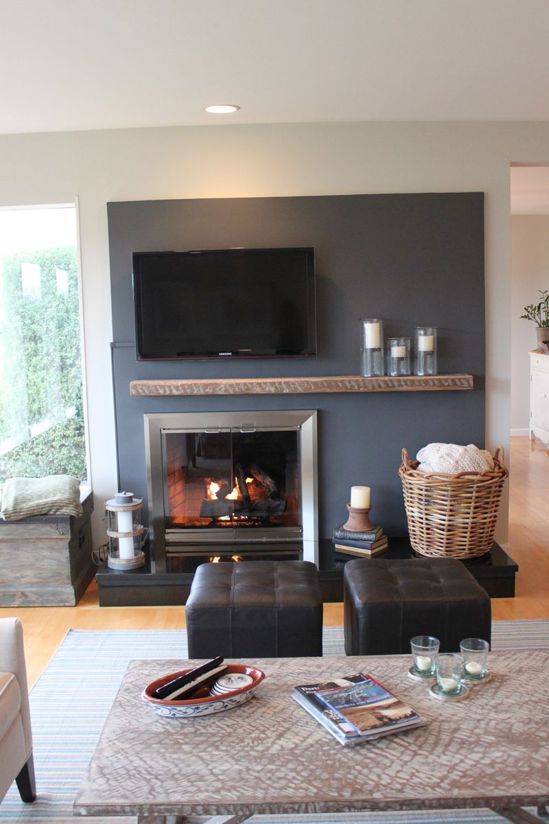 Farmhouseurban Home Fireplace Off Center Fireplace Home