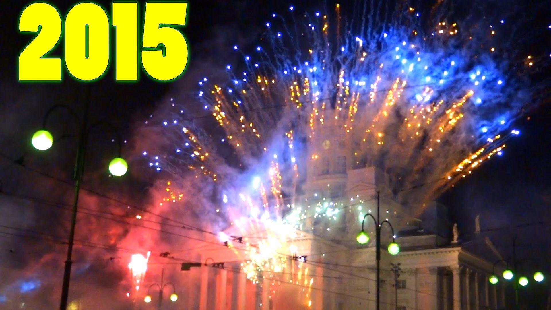 New Year's Eve in Finland Helsinki 2015 Fireworks