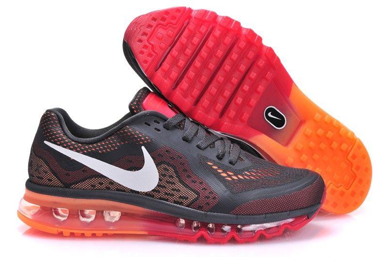 GrayOrange Nike Air Max 2014 Mens athletic running shoes