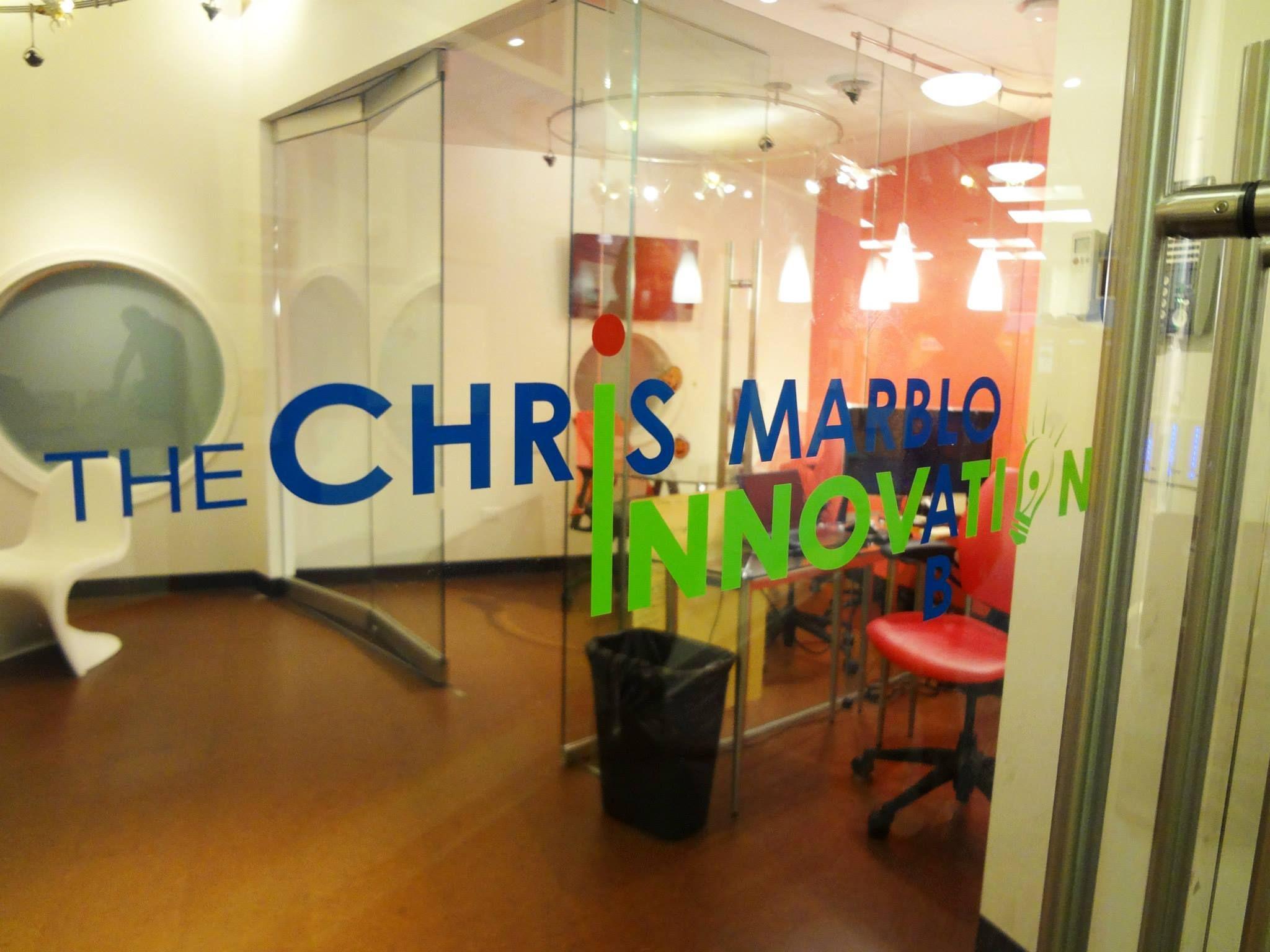 Custom 3 Color Die Cut Adhesive Viny Logo Applied Onto Glass Door In NYC