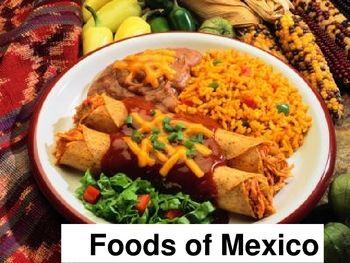 Foods Of Mexico Powerpoint La Comida De Mexico Mexican Food Mexican Food Recipes Enchilada