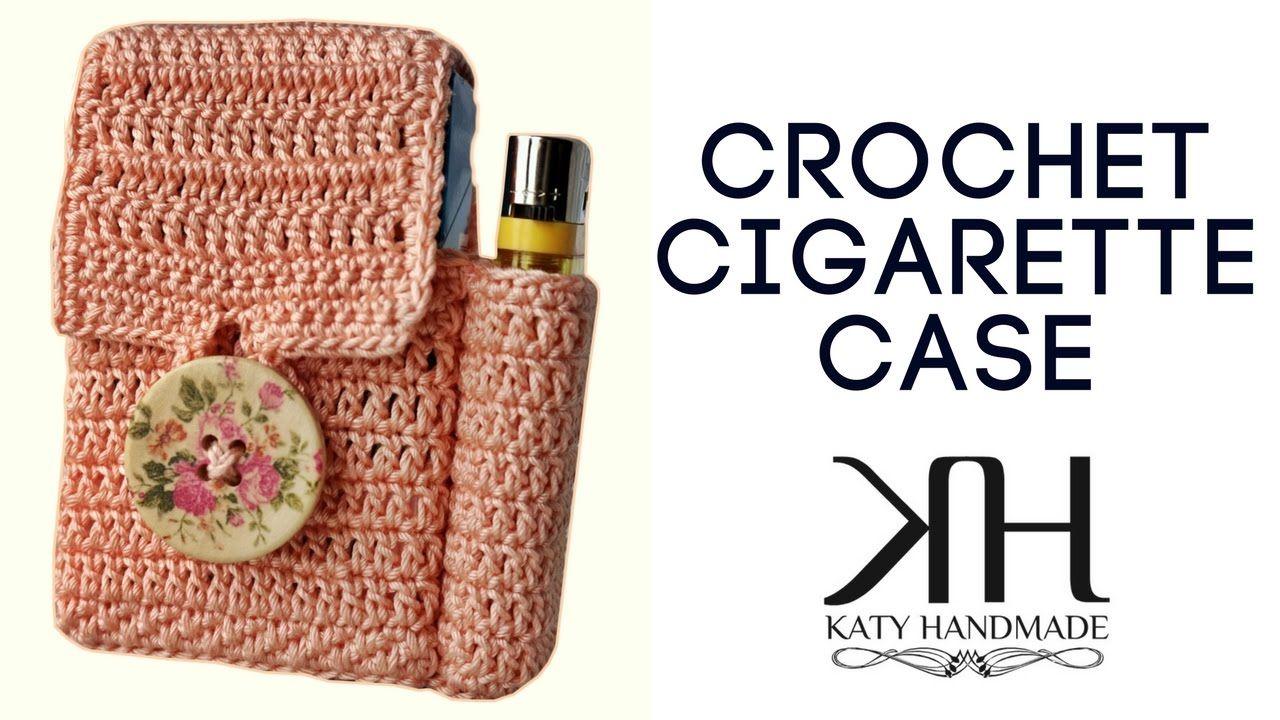 be814a0cc0 Tutorial uncinetto porta sigarette/porta tutto | Idea regalo/Gift idea ||  Katy Handmade - YouTube