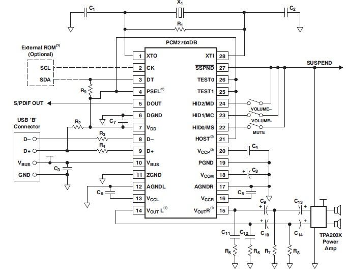 usb u202c sound card circuit