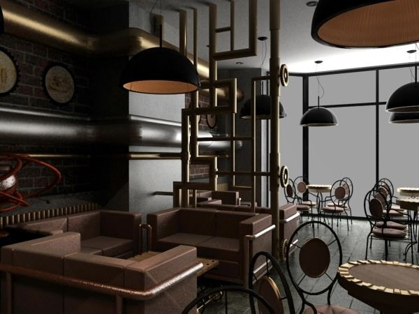 Modern interior design and exquisite decoration steampunk Steampunk interior