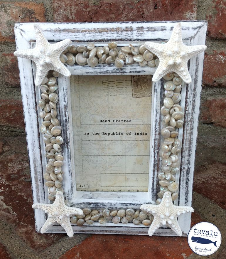 Shell Picture Frame | buzios | Pinterest | Marcos cuadros, Marcos y ...