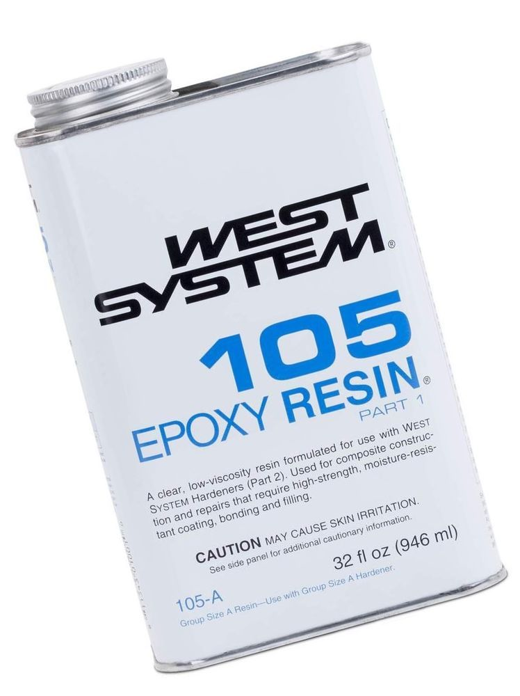 WEST SYSTEM 105A Epoxy Resin (Quart) - NO TAX (eBay Link) | old art
