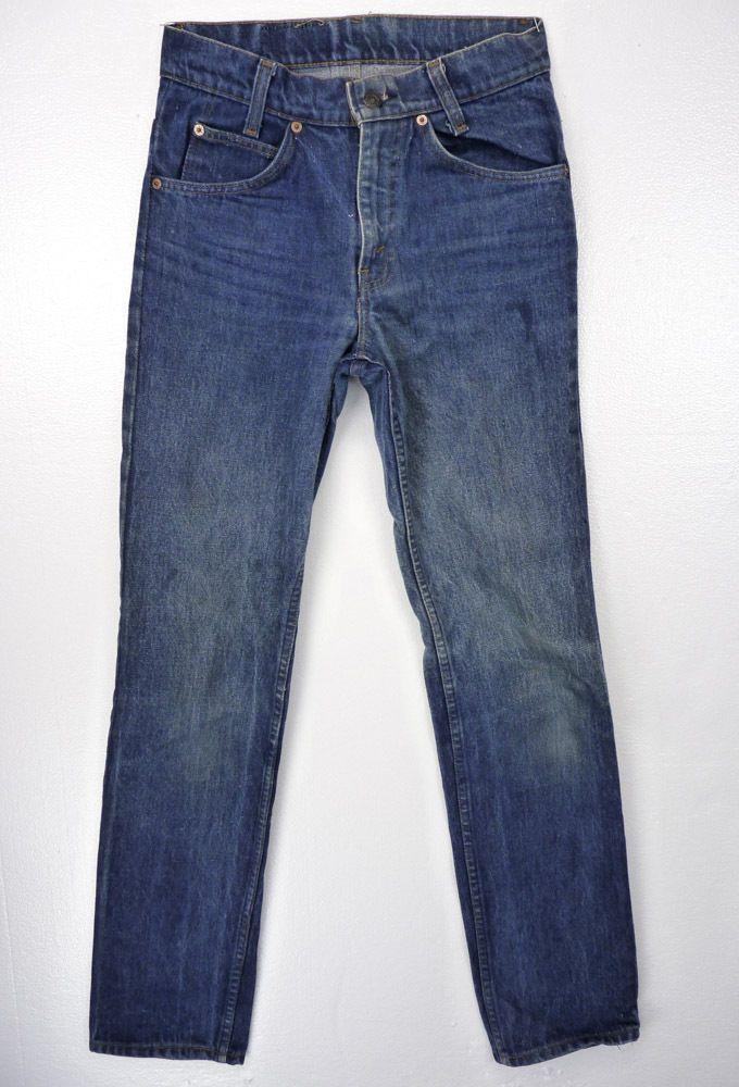 6424bcd55ad Vintage 70s LEVIS Orange Tab Student Denim Blue Jeans 29/34 Classic 718-0217  #Levis
