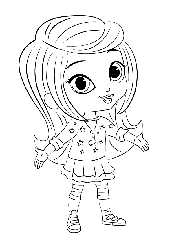 Ambitious image intended for free printable shimmer and shine coloring pages