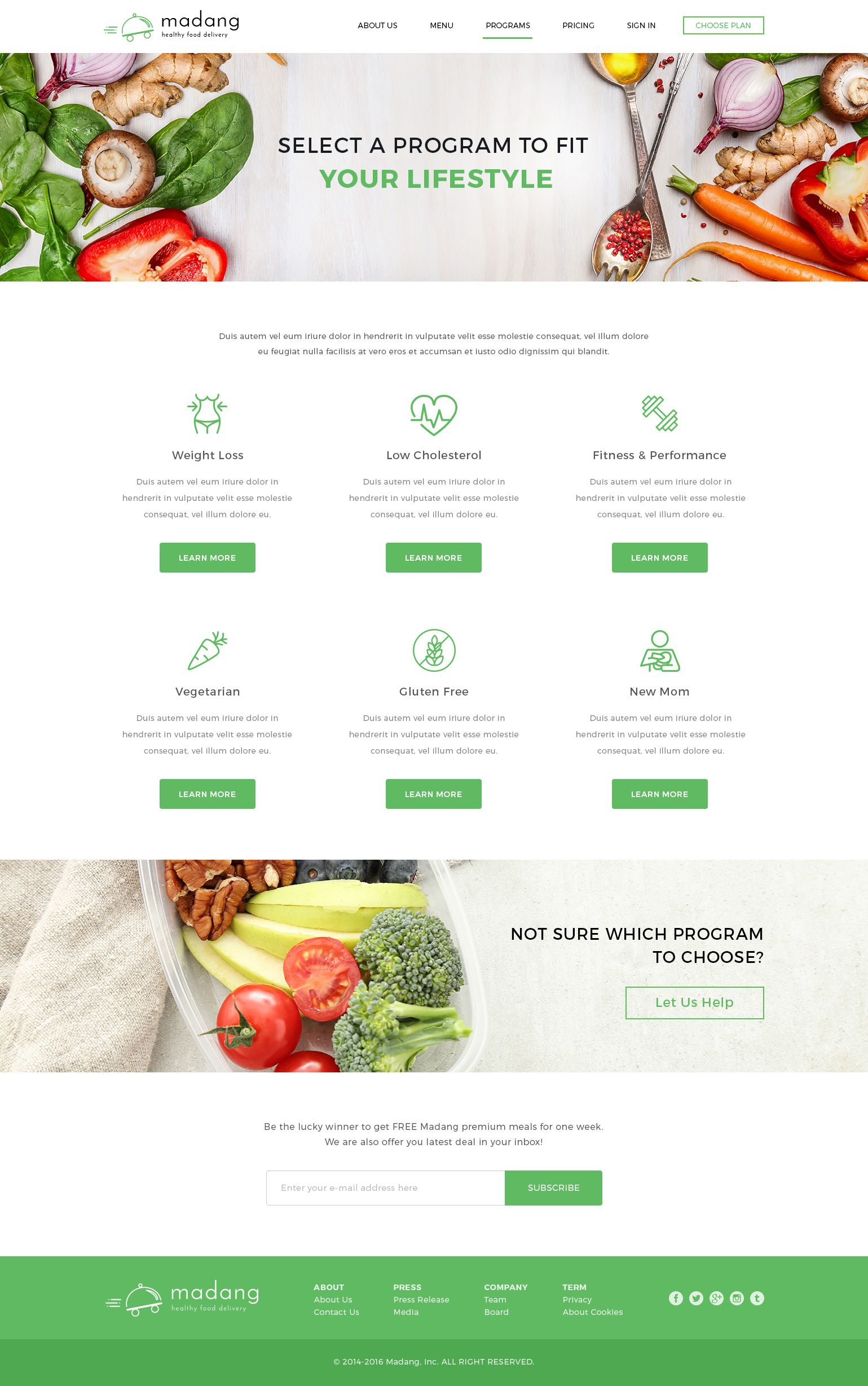 Madang Healthy Food Delivery Psd Template Food Healthy Madang Template ウェブアプリ Webデザイン デザイン
