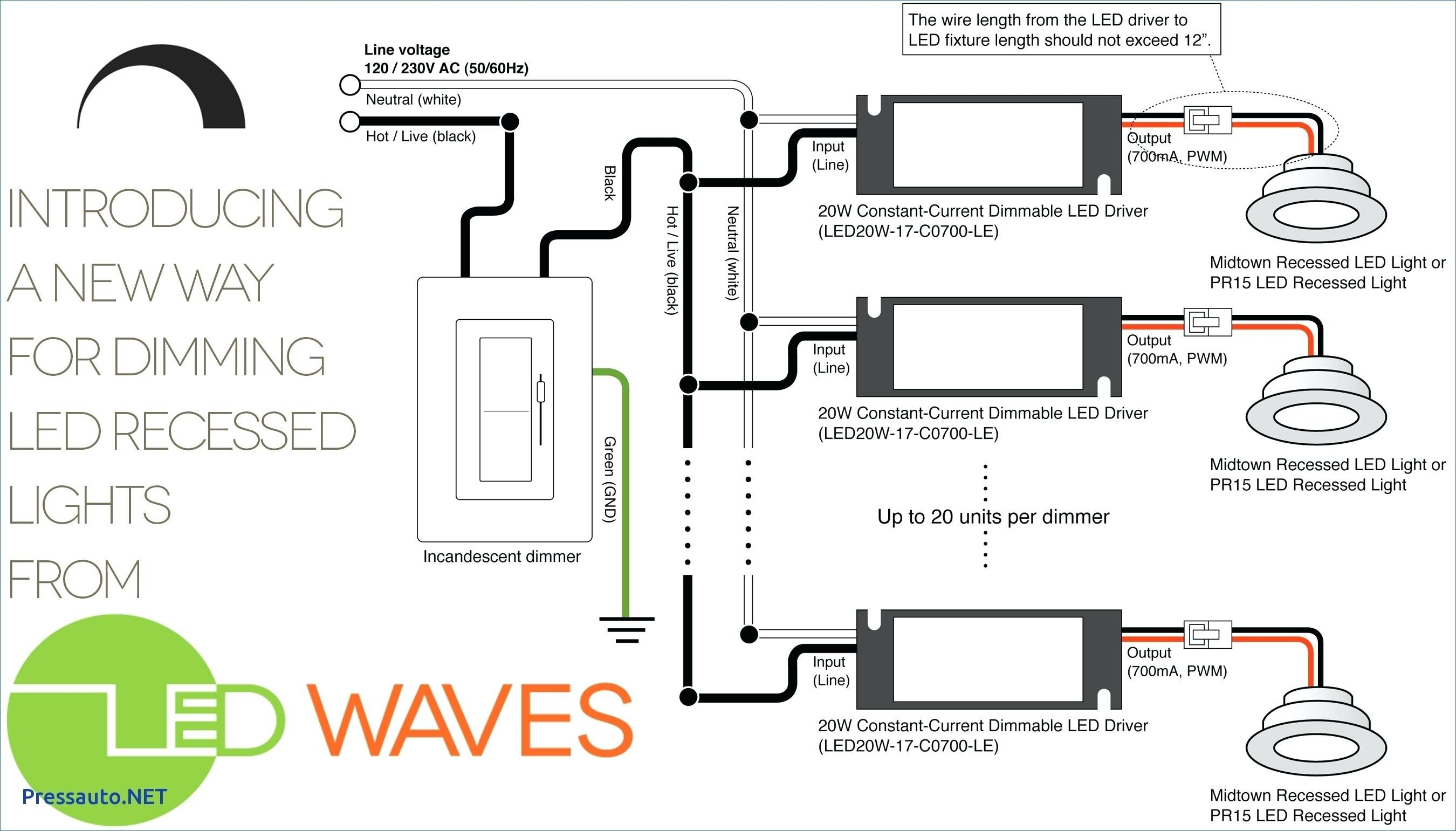 10 V Dimmer Switch Wiring Diagram in 2020 | Recessed can ...