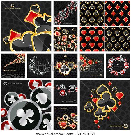 Poker And Casino Background Casino Card Symbols Vegas Signs
