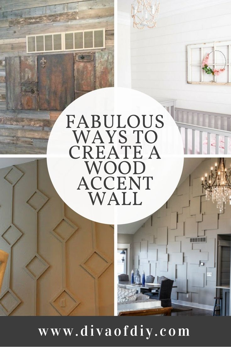 Turn boring walls into a masterpiece with this fabulous collection of Wood Wall Ideas. Did you know that wood can transform a wall and turn it into a beautiful focal point? Did you know that wood can add texture, color, depth, and character to your home? A fabulous collection of ways to create a wood accent wall. via @divaofdiy
