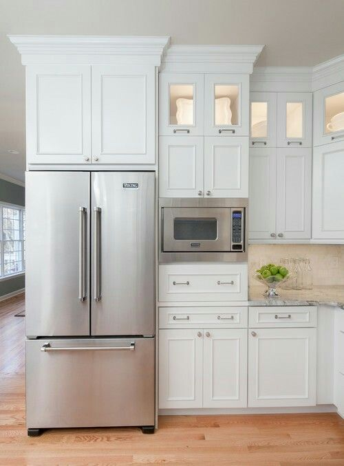 Microwave Placement Craftsman House Kitchen Kitchen Cabinets