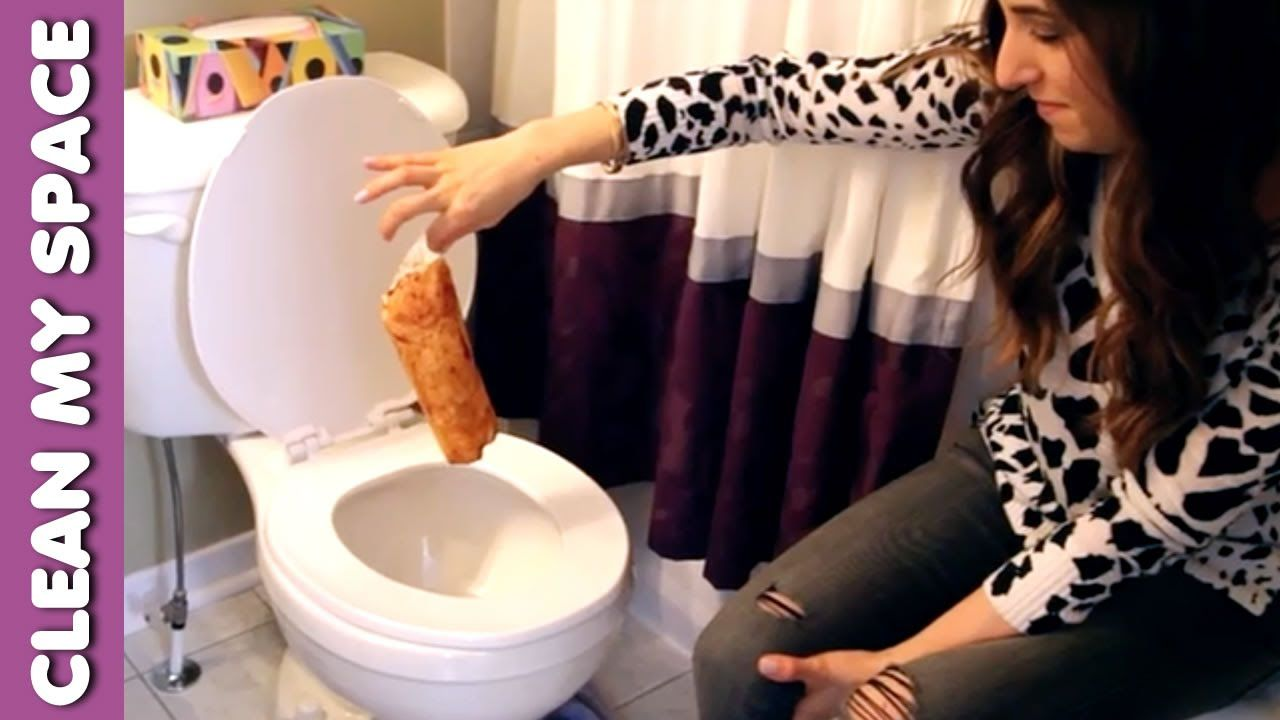 PlungePerfect clearing a clogged toilet - YouTube