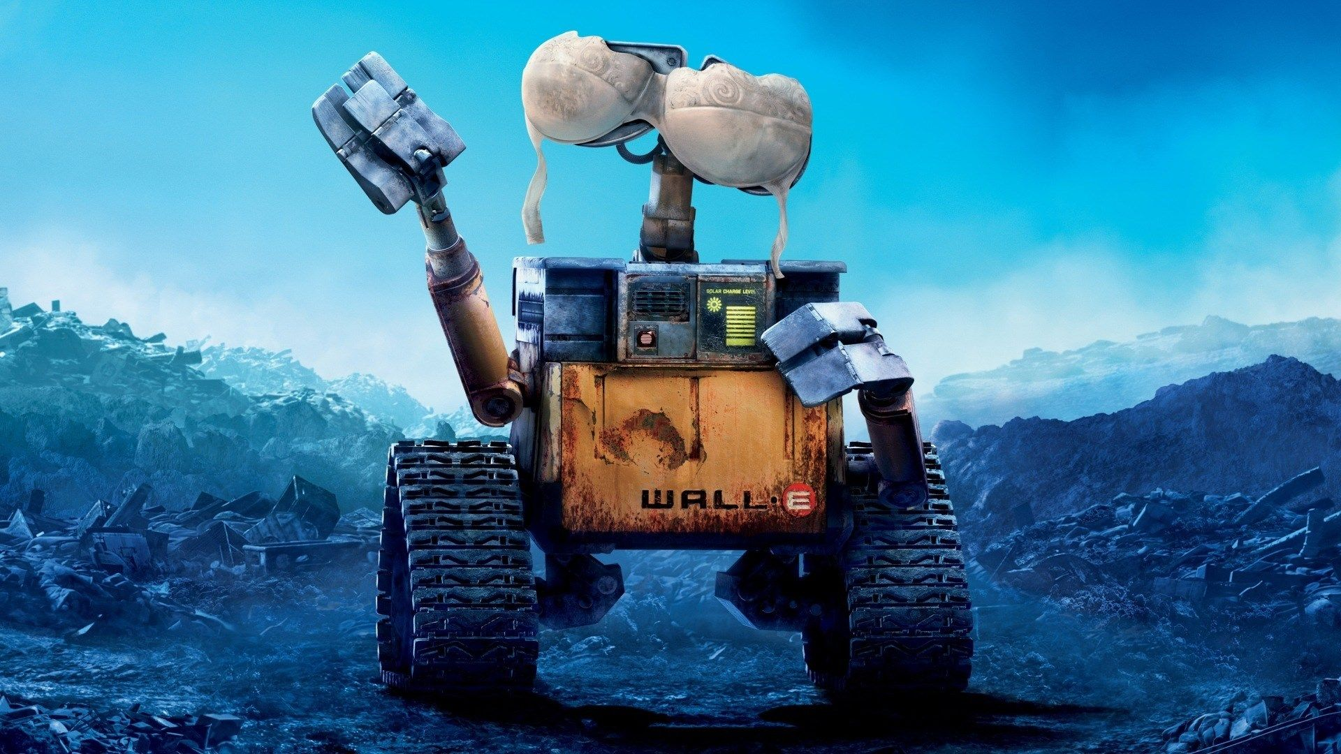 WALL·E Pixar Animation Studios Movies Stars Sky Space