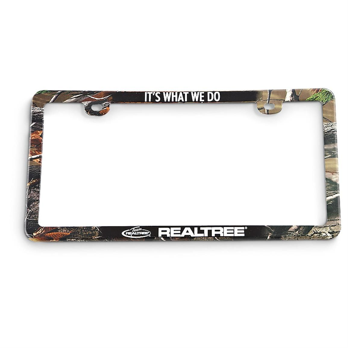 Your choice of camo License Plate Frames, a pair that stands out for ...