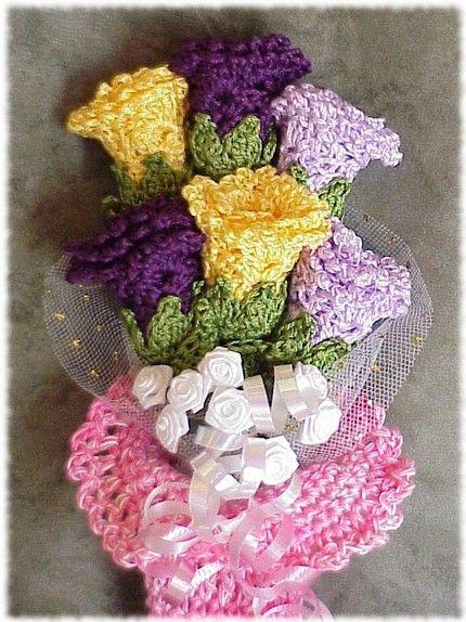 Etsyhooker Of The Week Crochet Bouquet Crochetembroidery