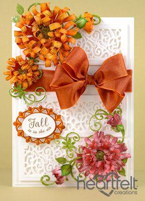 Heartfelt Creations | Orange And Pink Fall Mums