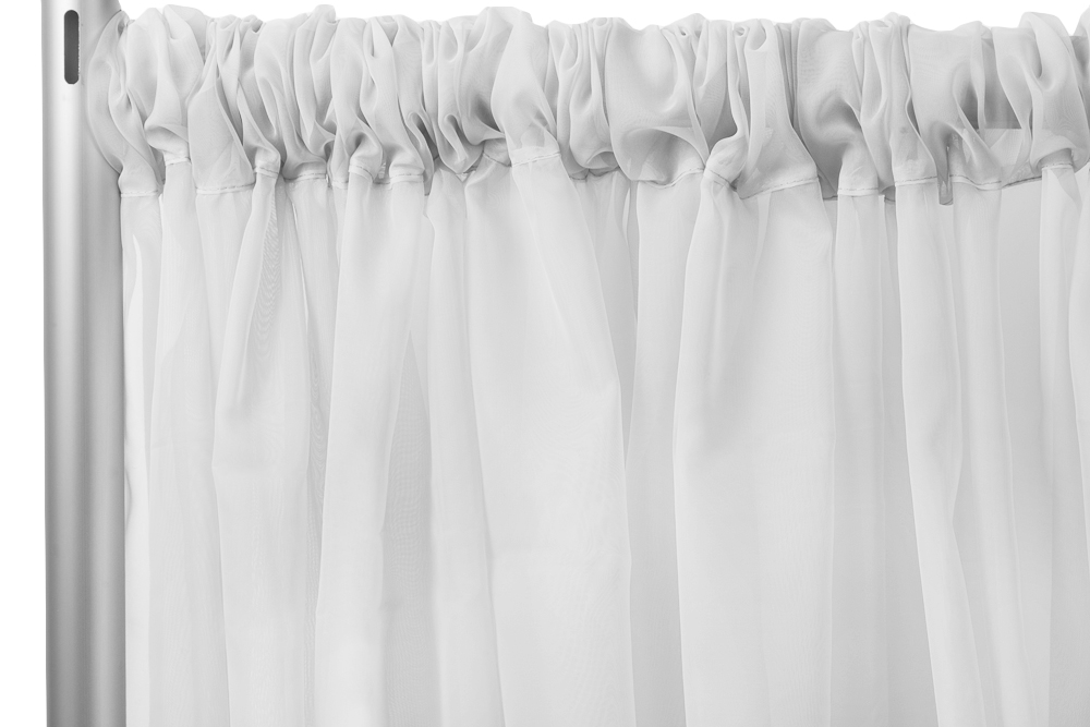Sheer Voile 12ft H X 118 W Drape Backdrop Silver Backdrops