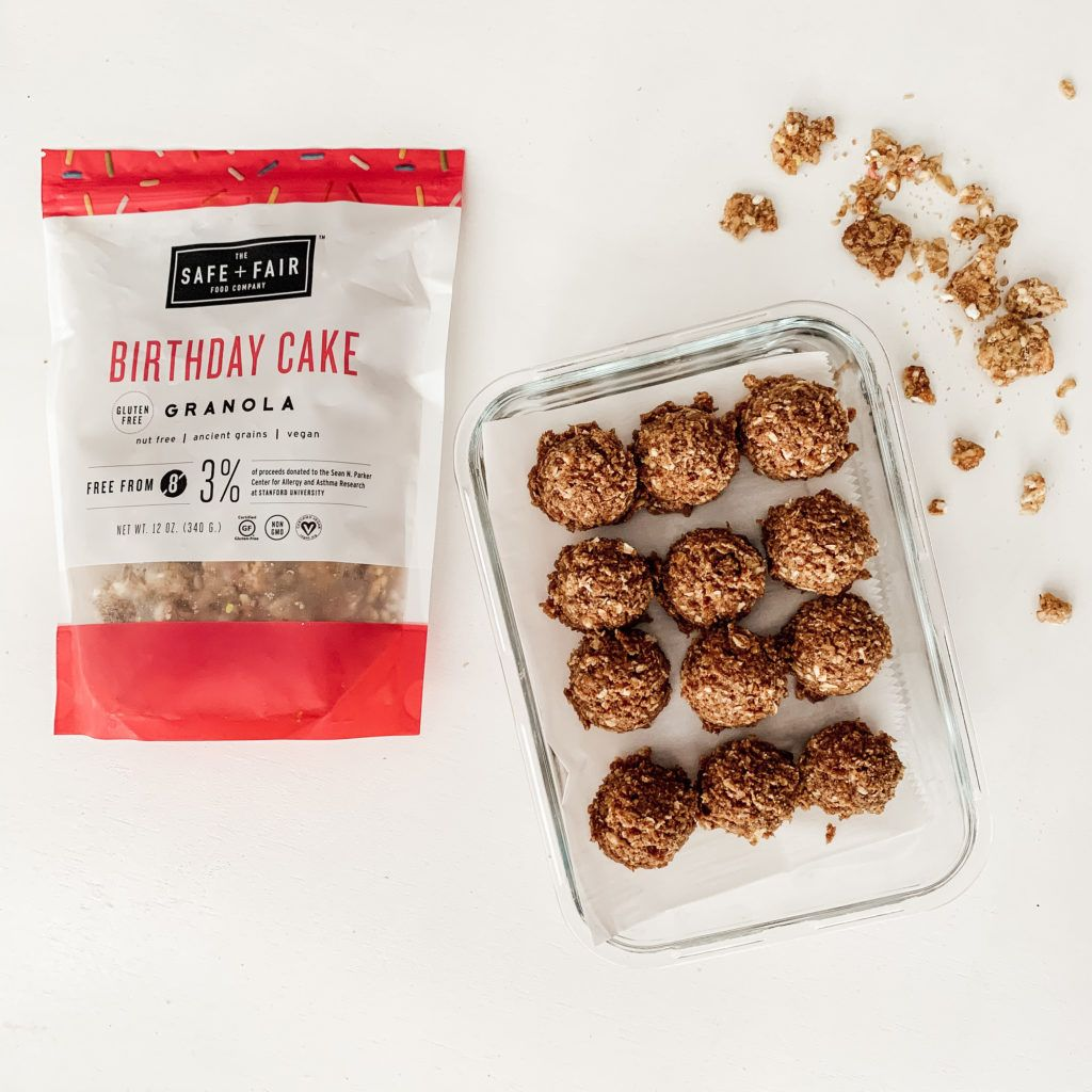 Birthday cake granola protein balls homegrown traditions