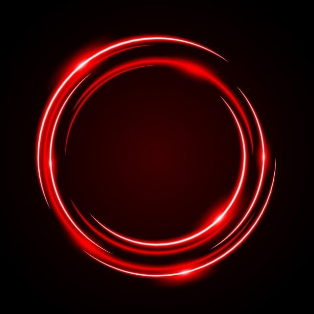 Abstract Circle Neon Light Red Frame Halo Vector Background Abstract Art Png And Vector With Transparent Background For Free Download Red Frame Circle Light Neon Backgrounds