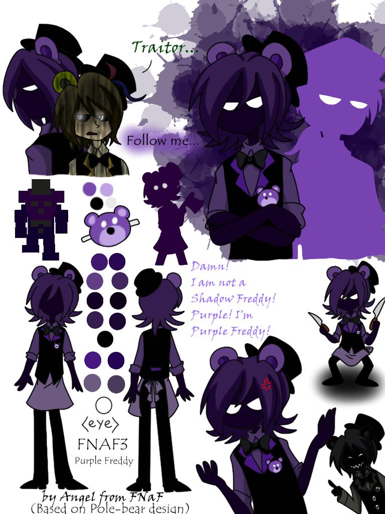 Purple Freddy (FNAF3) by Angel-from-FNaF deviantart com on