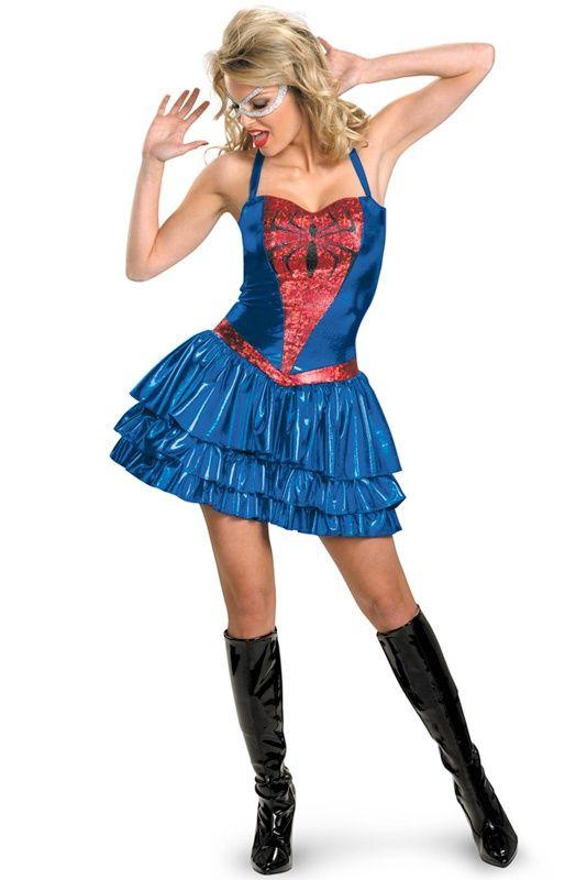 Marvel Spiderman Spider,Girl Sassy Deluxe Teen/Adult Costume $61.95  halloween costumes