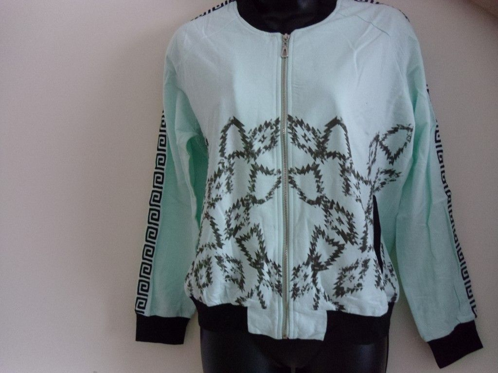 Embroidered Mint / Grey Jacket