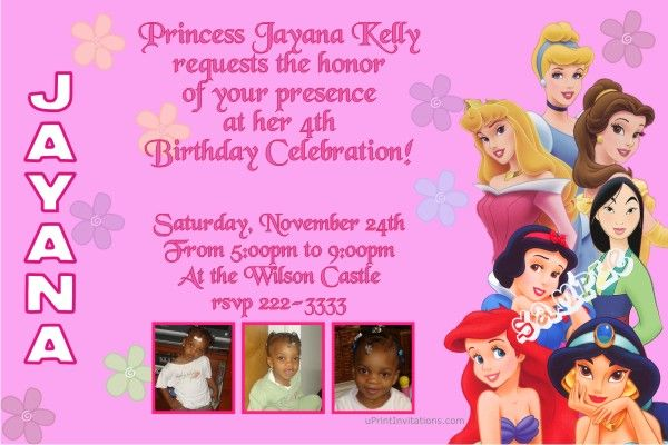 Princess party birthday invitations get these invitations right princess party birthday invitations get these invitations right now design yourself online download stopboris Image collections