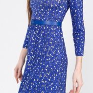 zina de plagny / robe ozu roy / dress ozu blue / collection femme été 16 / women's summer 16 collection #agnesb #womenswear