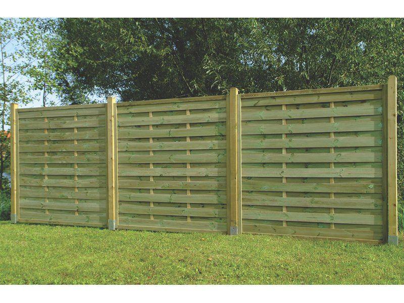 SichtschutzzaunElement leicht 180 cm x 180 cm Brennholz