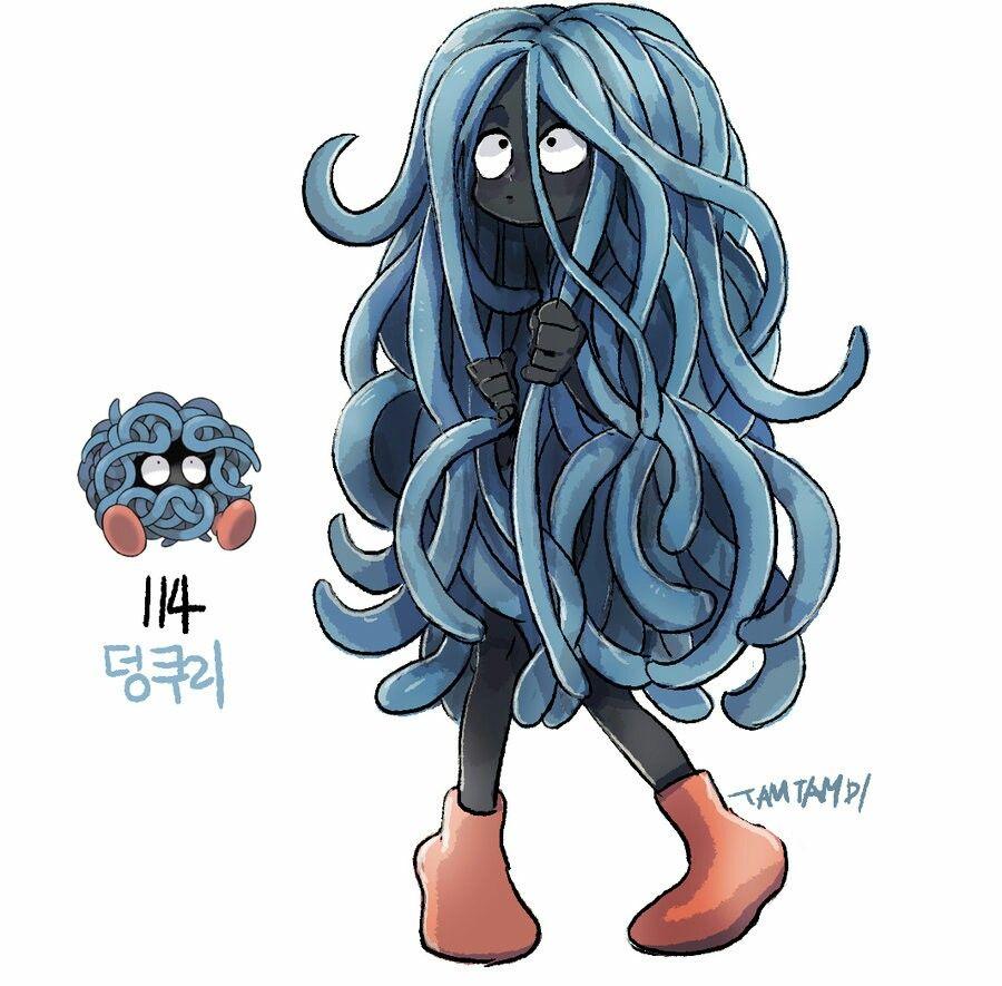 114. tangela | pokémon in human form | pinterest | 插画