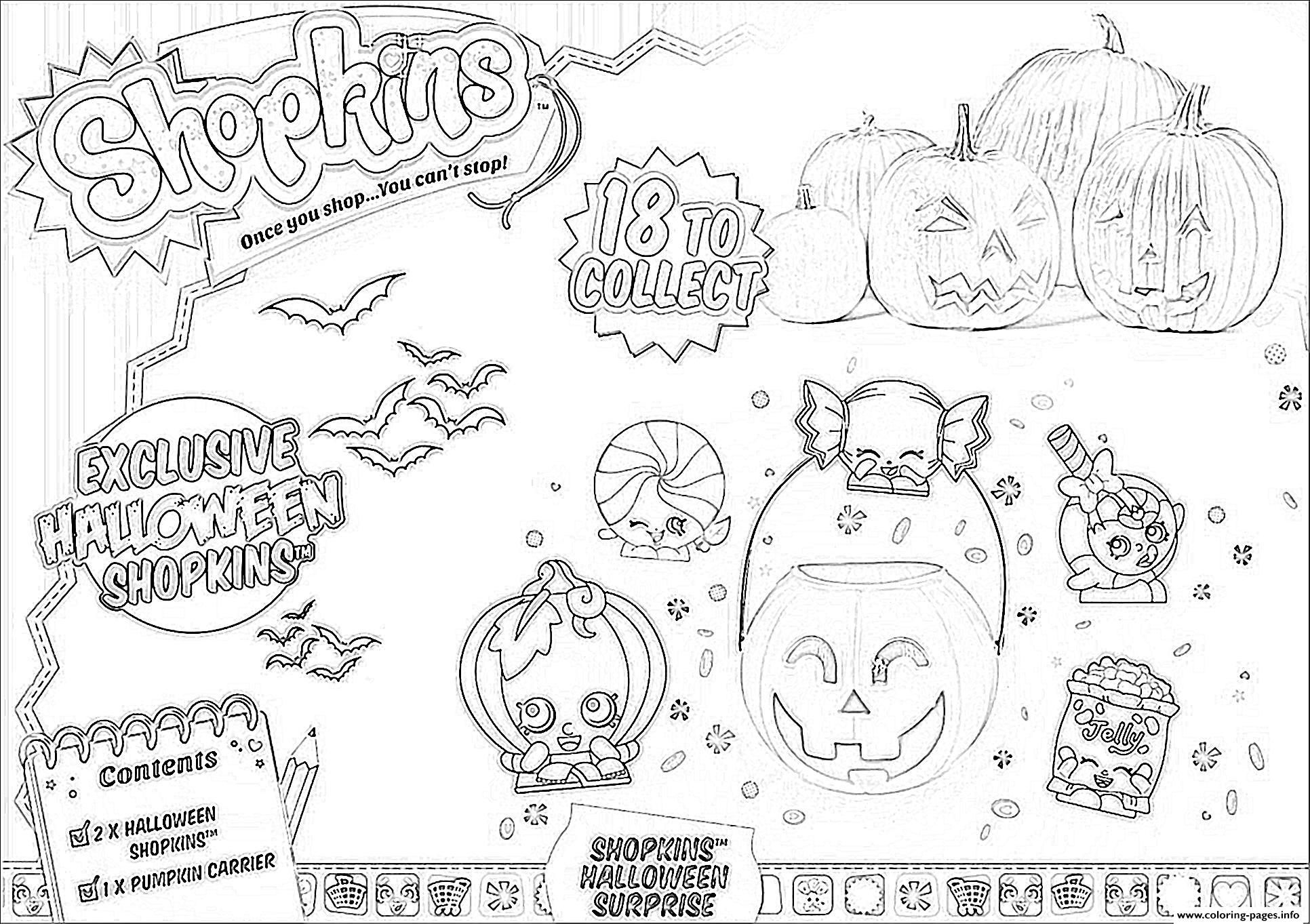 Print Shopkins Halloween Coloring Pages Halloween Coloring Book Halloween Coloring Halloween Coloring Pages