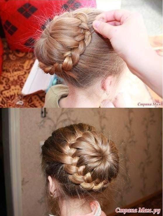 Une coiffure pour petite fille Tresse petite fille