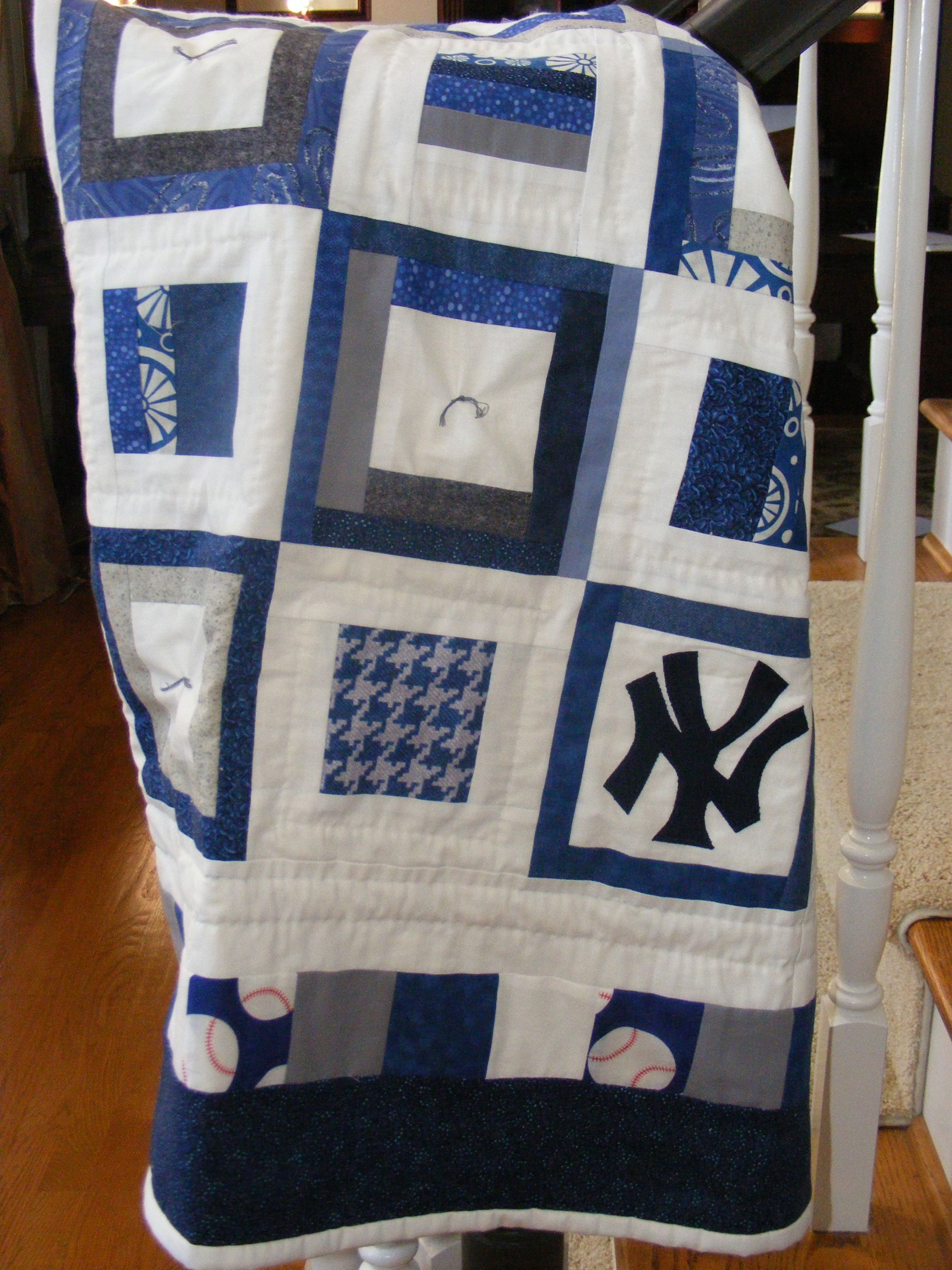 Ny Yankees Quilt Baseball Quilt Quilts Baby Quilts