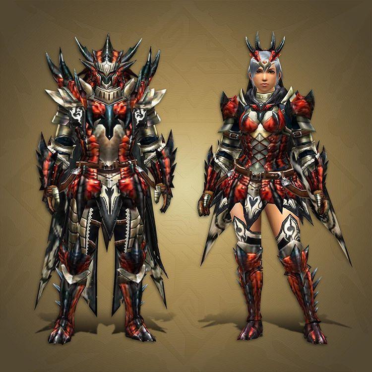 Image Result For Black Flame King Rathalos Armor Monster Hunter