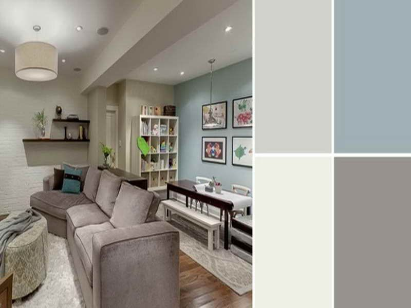 soft teal, brown, and grey color scheme. green brown grey aqua sea